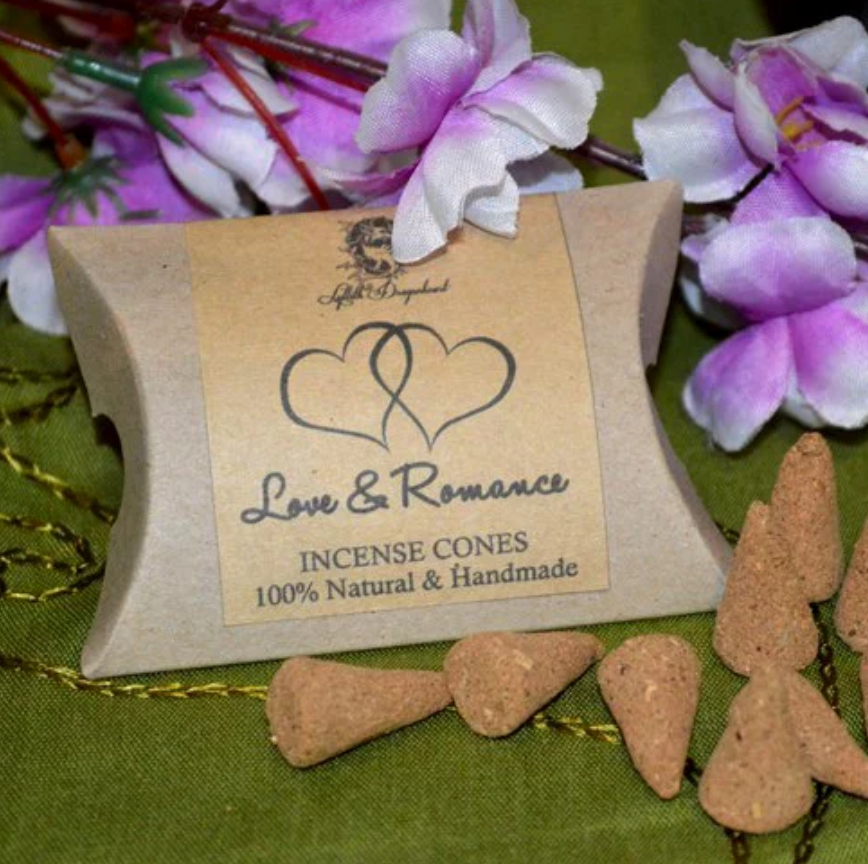 LOVE + ROMANCE HAND ROLLED INCENSE CONES - LYLLITH DRAGONHEART