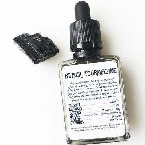 BLACK TOURMALINE RITUAL GEM ESSENCE - MOON NECTAR APOTHECARY - the_raw_store