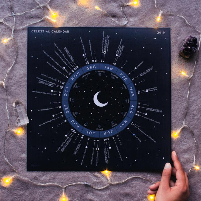 CELESTIAL CALENDAR 2019 // ASTRONOMICAL EVENTS - AMEYAS REALM: PRE ORDER DUE MID DEC - the_raw_store