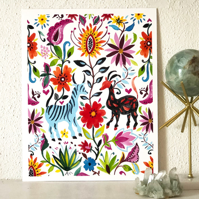 OTOMI LOVE ART PRINT - PLANT + PATTERN