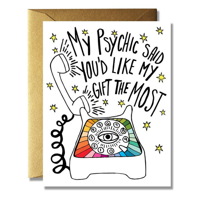 MY PSYCHIC SAID CARD - NATIVE BEAR - the_raw_store