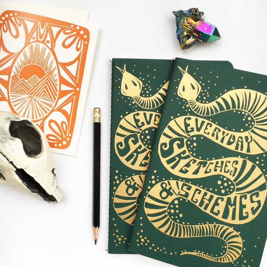 SNEAKY SNAKE NOTEPAD - NATIVE BEAR - the_raw_store
