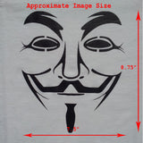 Anonymous T-Shirt Close Up & Size Chart