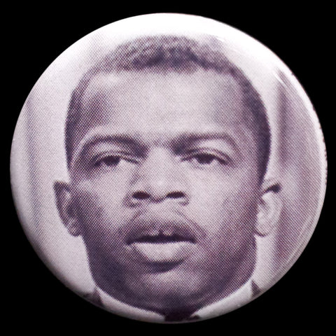 John Lewis Pin Back Button Magnet