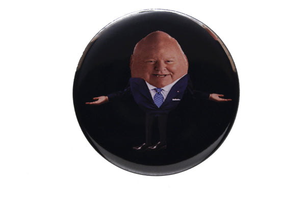 Humpty Duffy button or magnet color on black