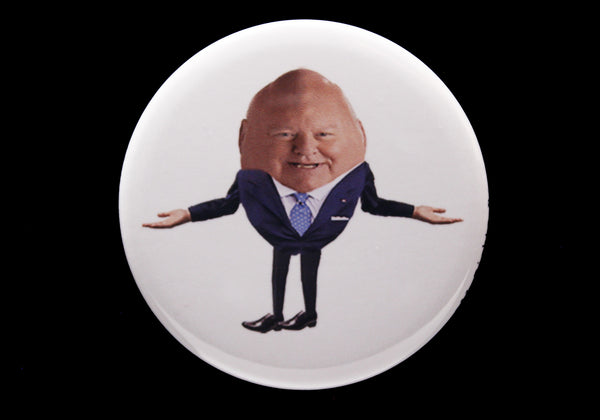 Humpty Duffy Button or Magnet Color on White