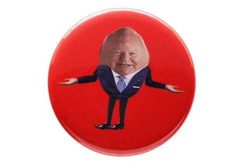 Humpty Duffy button or magnet color on red