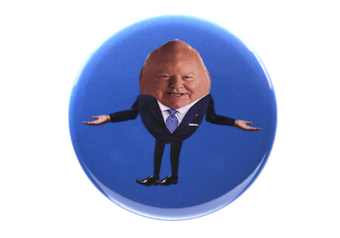 Humpty Duffy button or magnet color on blue