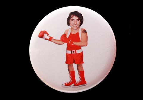 Trudeau Button or Magnet Color on White