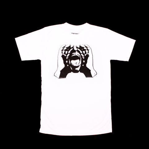 HeckleMaster logo tshirt black on white