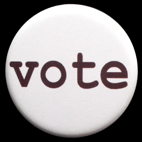 Vote Pin Back Button Magnet