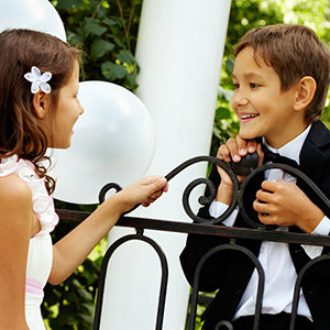 Boys and girls tuxedo shirts