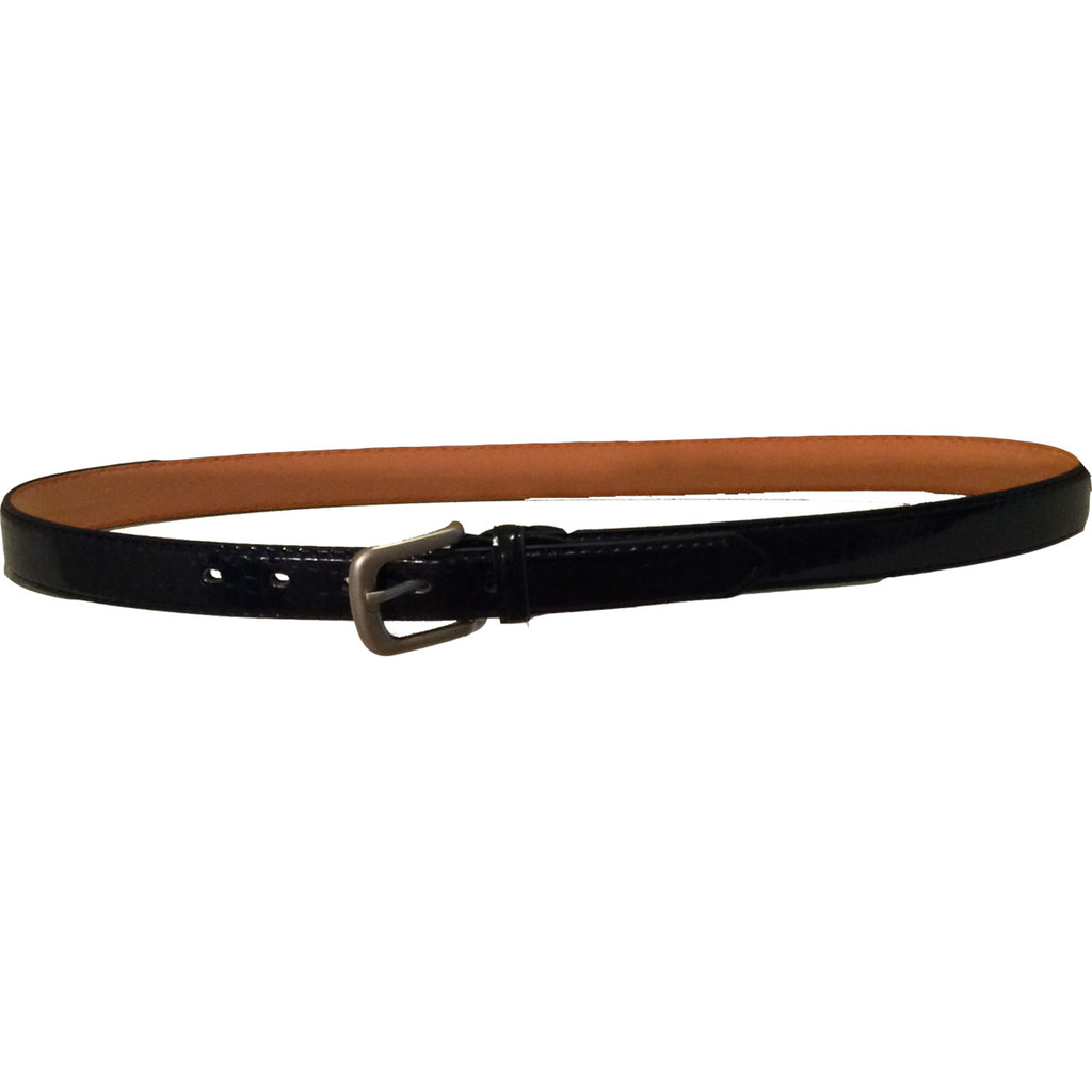 Mens Leather Lizard-Look Belt