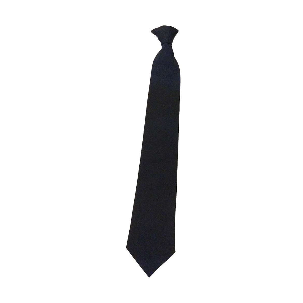 Black Clip On Neckties (per dozen)