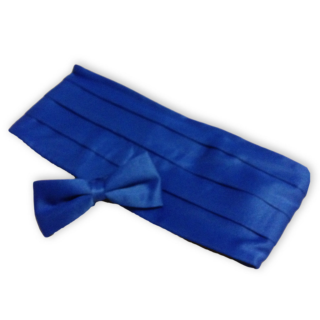 Solid Color Adult Bow Tie & Cummerbund Set