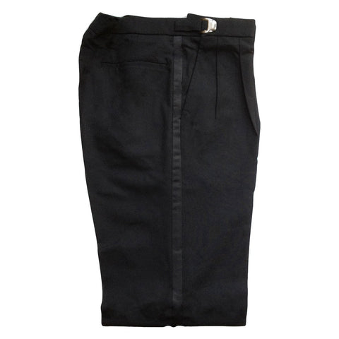 Men's Black Adjustable Tuxedo Pants, 100% Wool