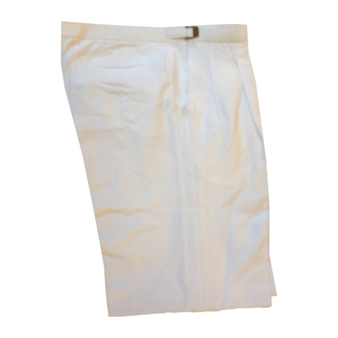 Men's White Adjustable Tuxedo Pants, Polyester