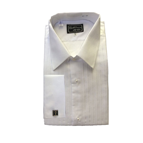 AT Harris Mens White Cotton Tuxedo Shirt