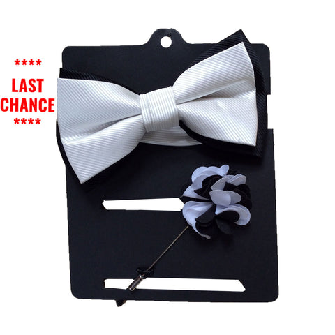 Bow Tie & Lapel Pin Set