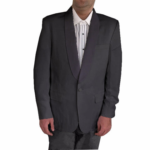 Men's Shawl Collar Tuxedo Dinner Jacket, Poly/Wool (Black)