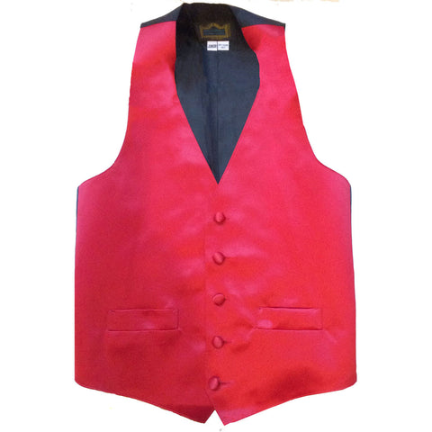 2 Dozen Juniors Red Tuxedo Vests