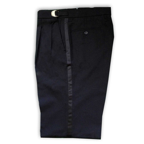 Mens Black Adjustable Tuxedo Pants, Polyester