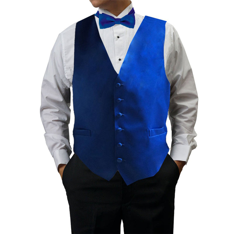 Mens Royal Blue Tuxedo Vest with 6 Buttons