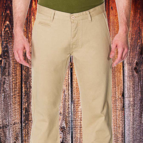 Men's  Slim Fit Khaki Chino Pants