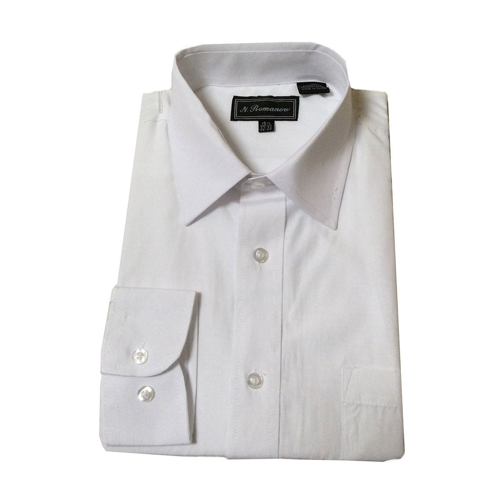Mens White Dress shirt with pocket