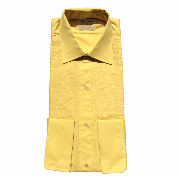 Mens Vintage Tuxedo Shirt in Mustard or Azure by Arrow RSVP – Tuxedo  Closeouts
