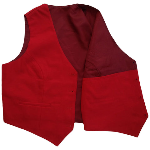 Mens Red Tuxedo Vest with 5 Buttons