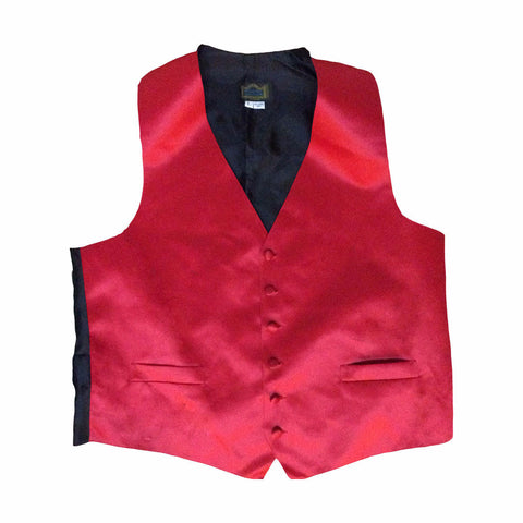 Mens Red Tuxedo Vest with 6 Buttons