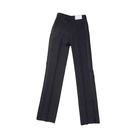 Boys Black Non Pleated Tuxedo Pants
