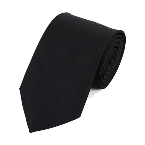 Mens Black Satin-Look Pleated Cummerbund