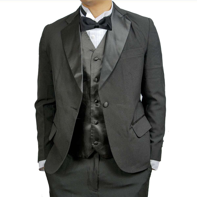 Mens 2 Piece Poly/Wool Blend Tuxedo with Notch Collar Jacket