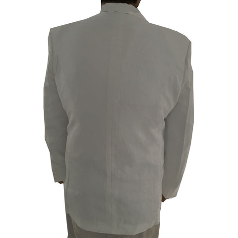 Men's Shawl Collar Tuxedo Dinner Jacket, Poly (White)