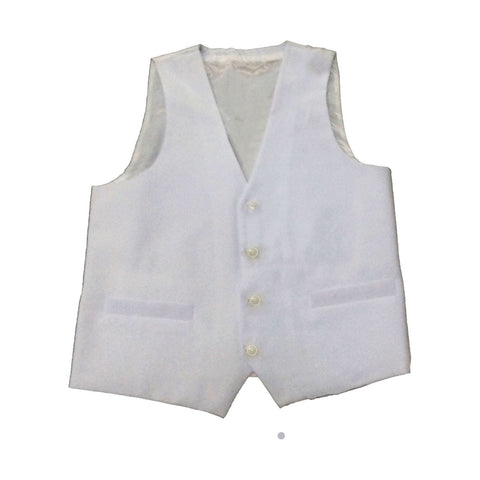 Young Mens Slim Fit White Vest