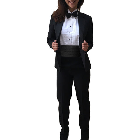 Women's 2 Piece Suit with Notch Collar Jacket and Pants