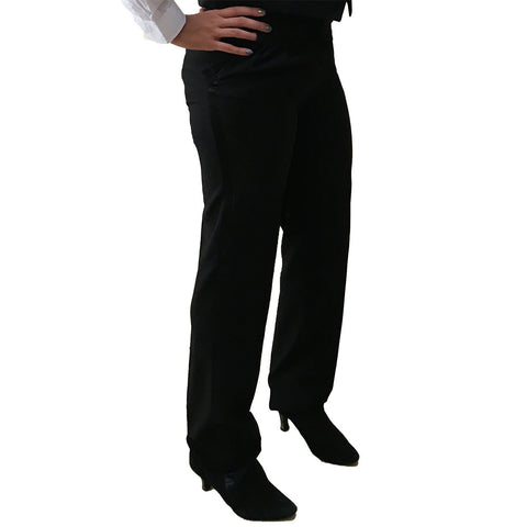 Womens Adjustable Pleated Tuxedo Pants