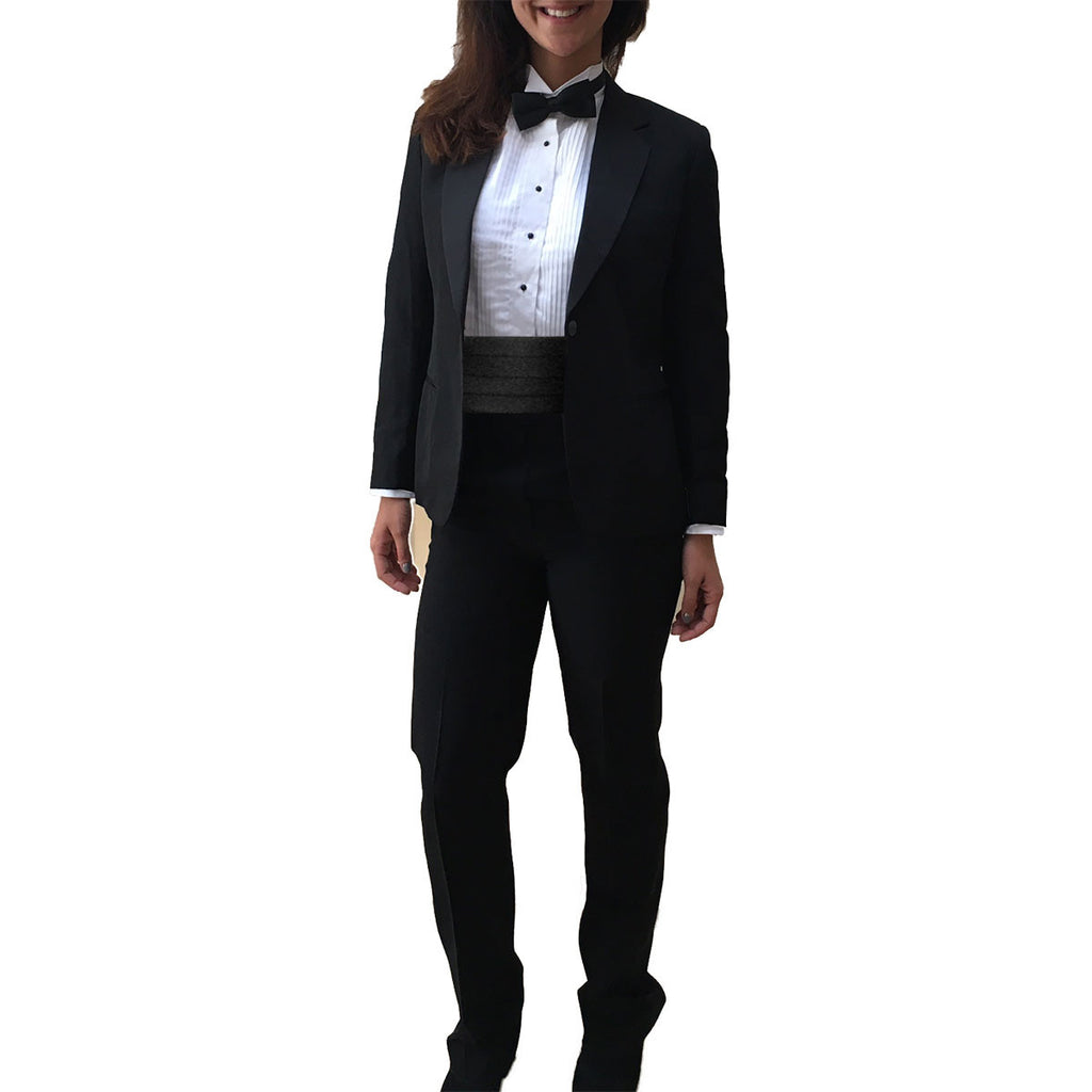 0523fb2ca0a Womens 2 Piece Suit with Notch Collar Jacket and Pants