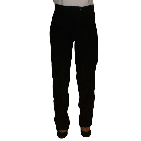 Women's Black Polyester Pants with no stripe