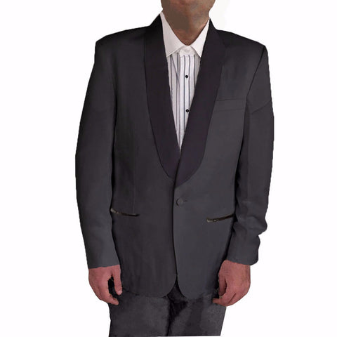 Men's Shawl Collar Tuxedo Dinner Jacket, 100% Wool (Black)