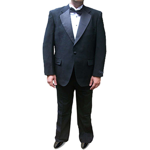 Mens 2 Piece 100% Wool Tuxedo Suit with Notch Collar