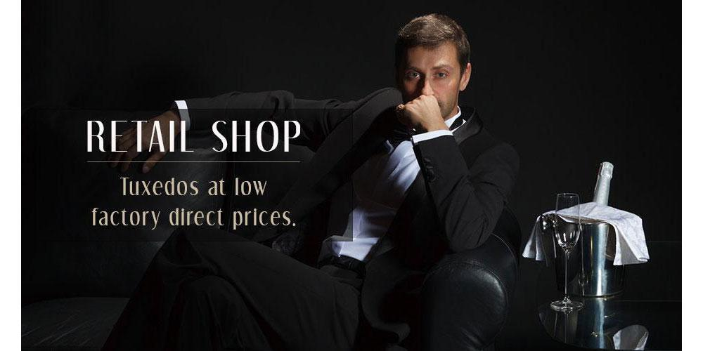 Shop mens tuxedos at low prices everyday