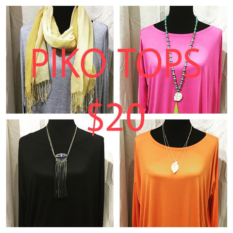 piko tops and tunics