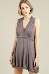 Charcoal Sleeveless Top