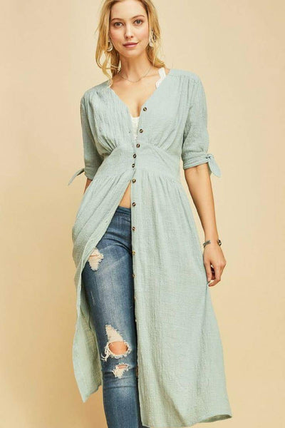 Cotton Button Down Dress