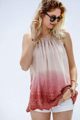 Ombre Scalloped Tank