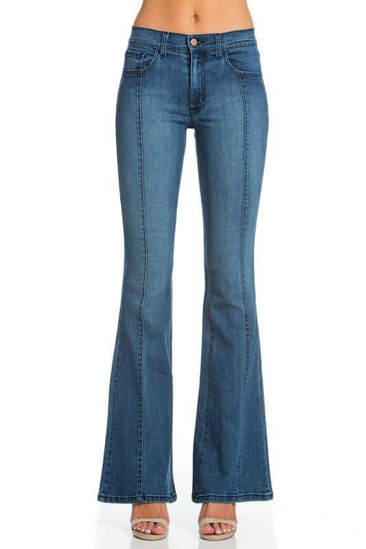 Seam Detail Flare Jeans