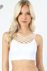 White Cross Bralette